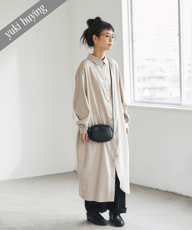 【@yuki_takahashi0706さんbuying item】サテンシャツワンピース73-145802