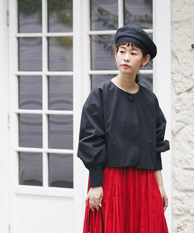 《yukiさんコラボ》ノーカラーショートジャケット 73-146804