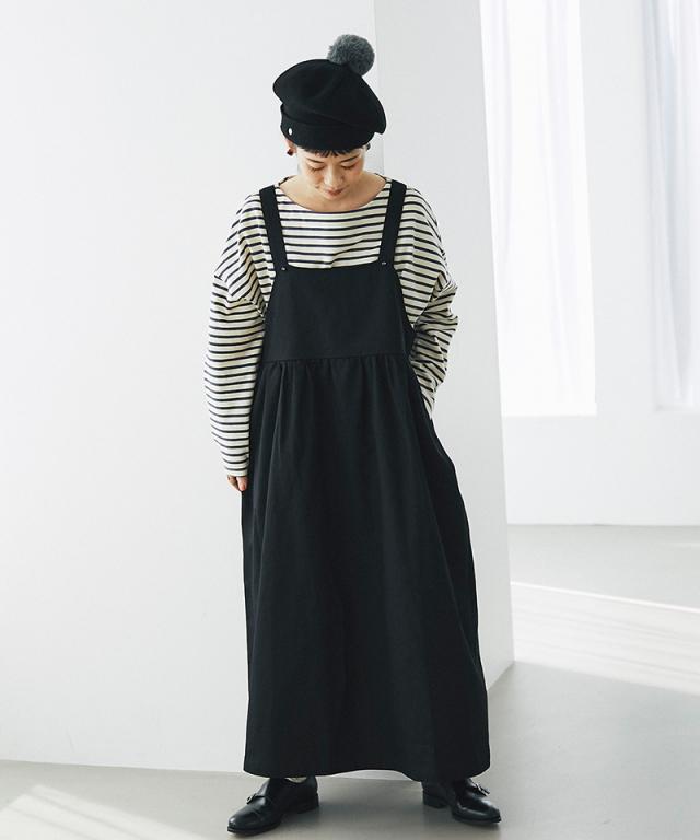 《kazumiさん着用》切り替えジャンパースカート73-148577