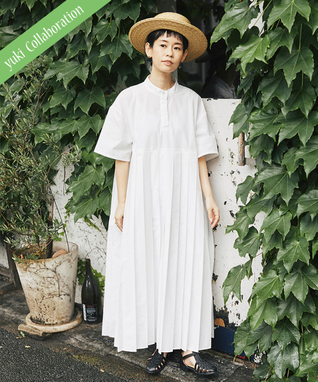 《yukiさんコラボ》※8月7日再販予定 半袖プリーツワンピース 73-149070