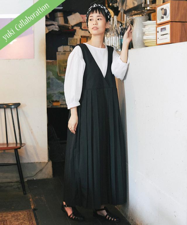 《yukiさんコラボ》8/7 再販予定 カシュクールプリーツワンピース 73-149074
