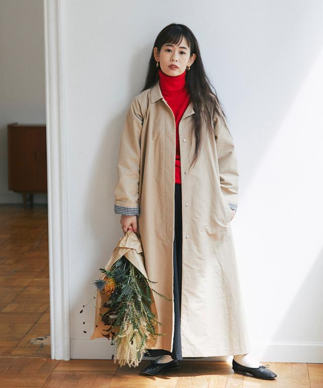 《yukiさんコラボ》Aラインコート 73-149789