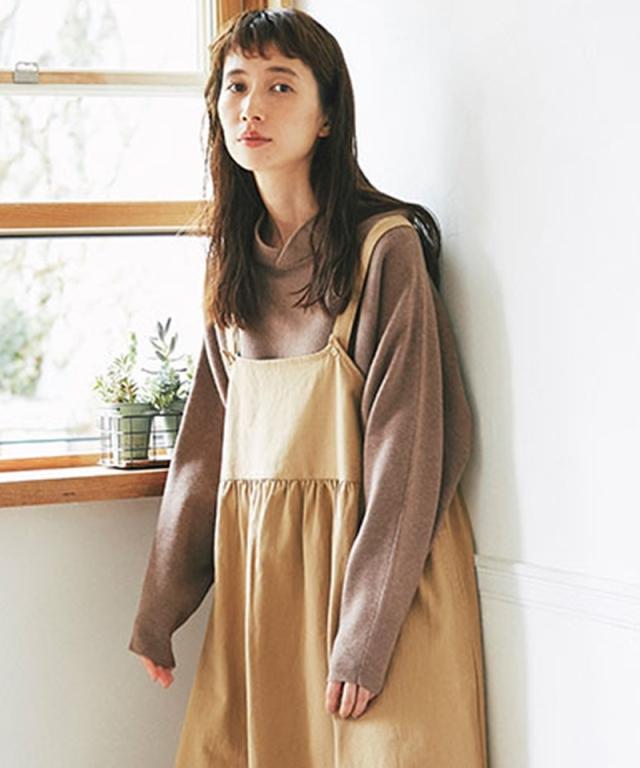 《kazumiさん着用》フードライクカラー ドルマンプルオーバー73-150684
