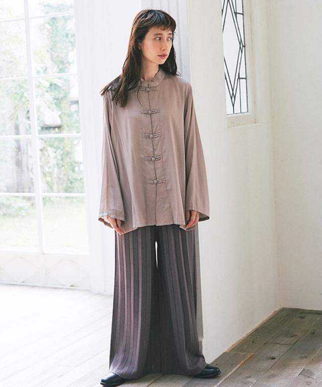 《kazumiさん着用》ニットプリーツパンツ73-150812