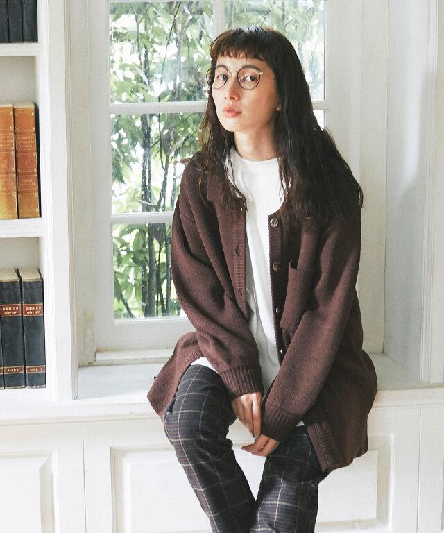 《kazumiさん着用》ジャガード編みシャツジャケット73-150818