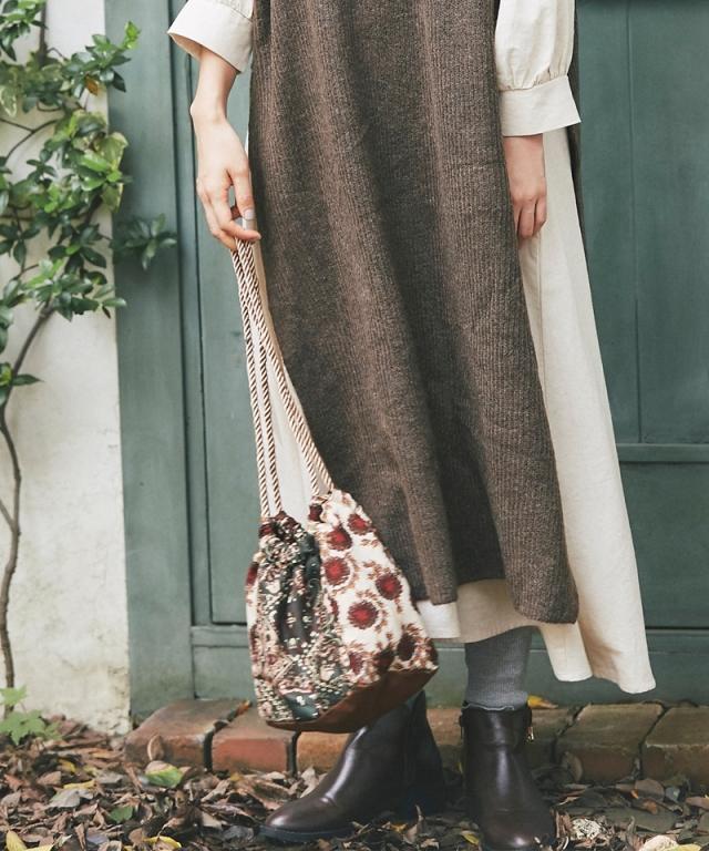 《kazumiさん着用》パッチワーク巾着BAG73-150822