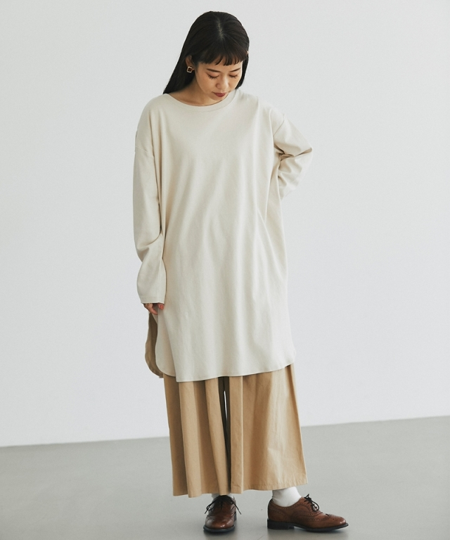 ラウンドヘムロングTシャツ73-151422