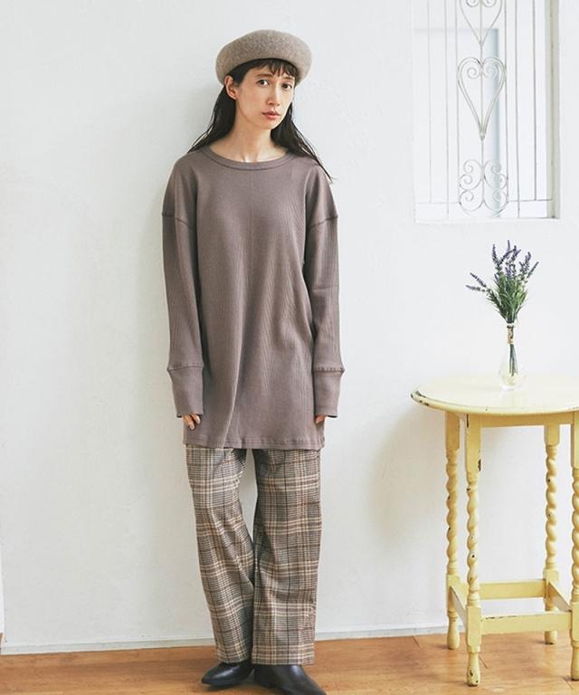 《kazumiさん着用》グレンチェックワイドパンツ73-151424