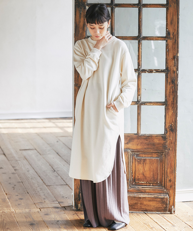 《kazumiさん着用》裏毛スリットロングスエット73-151659