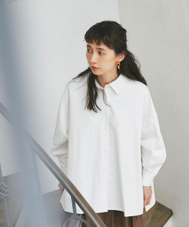 《kazumiさん着用》コットンロングシャツ73-152003