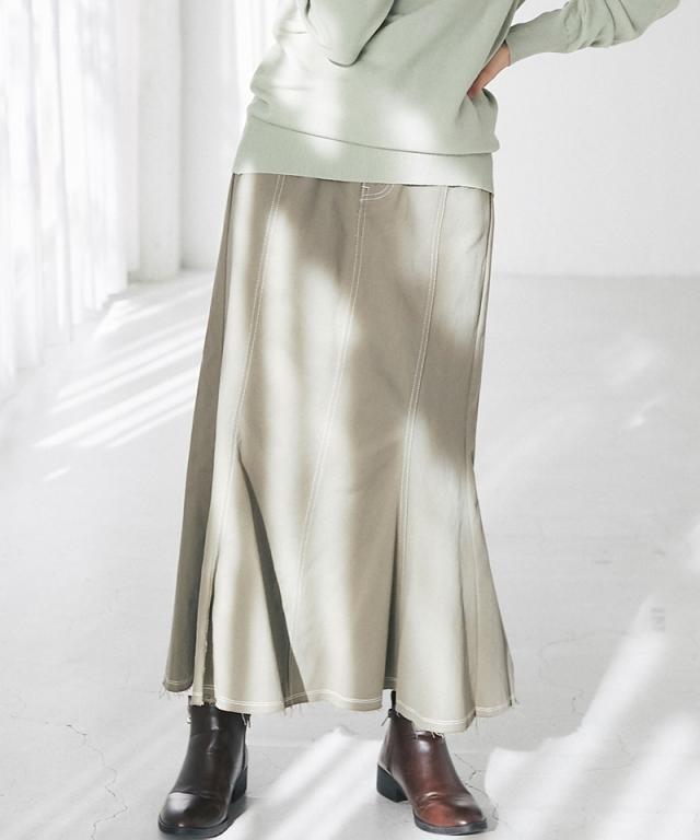 ツイルマーメイドスカート73-153246