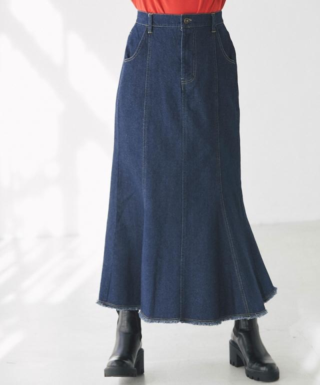 デニムマーメイドスカート73-153248