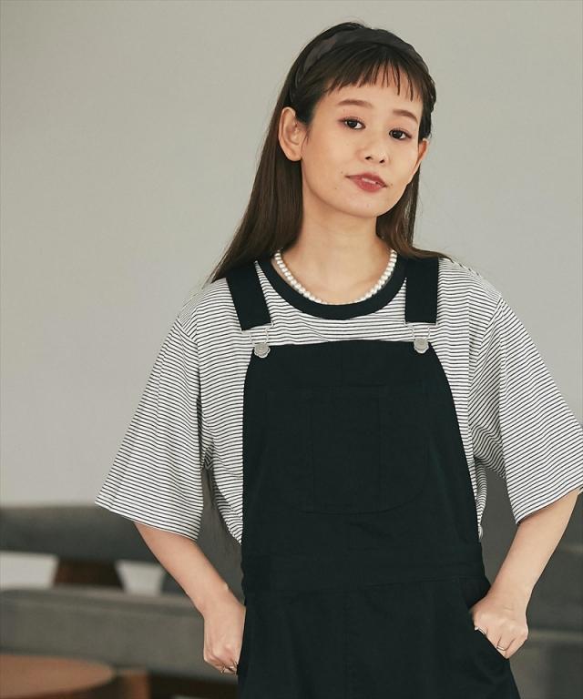 ボーダーロゴTシャツ73-158472