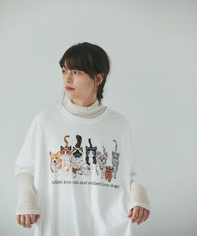 inunekoプリントTシャツ73-158479