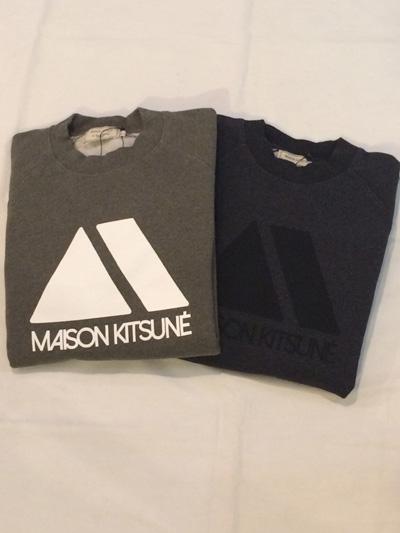 MAISON KITSUNE メゾンキツネ SWEATSHIRT Triangle  プリントスウェット