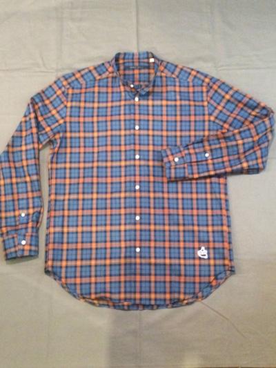 SHIRT/Stealth Wealth SHIRT ステルスウェルス シャツ Style:Monk  チェックバンドカラーシャツ