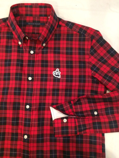 SHIRT/Stealth Wealth SHIRT ステルスウェルスシャツ Style:SONNY・Mサイズ   CSWS-0143  タータンチェック ボタンダウンシャツ