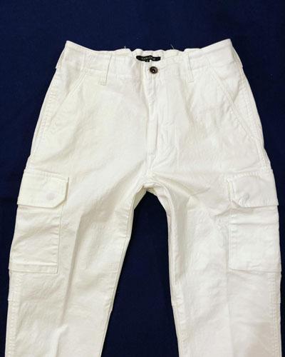STUDIO ORIBE (スタジオオリベ) FC02 FRENCH CARGO PANTS/フレンチカーゴパンツ *WHITE