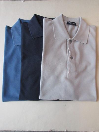 DRUMOHR(ドルモア)2017 SS 【新作】 * ストーンウォッシュ鹿の子ポロシャツ Short Sleeve Polo