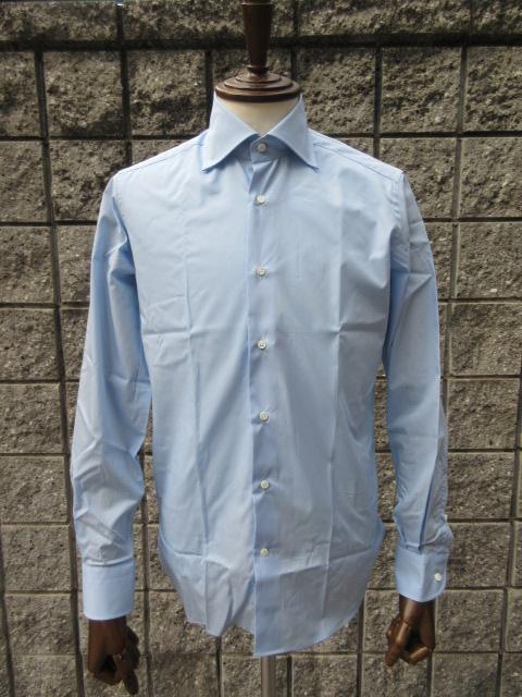 GUY ROVER (ギ・ローバー ) 【新作】 *ブロードワイドカラーシャツ BLUE 『スーツ定番』SHIRT