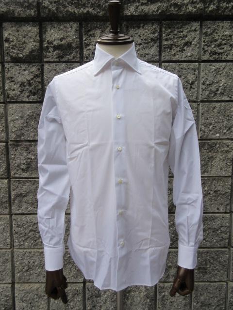GUY ROVER (ギ・ローバー ) 【新作】 *ブロードワイドカラーシャツ WHITE 『スーツ定番』SHIRT