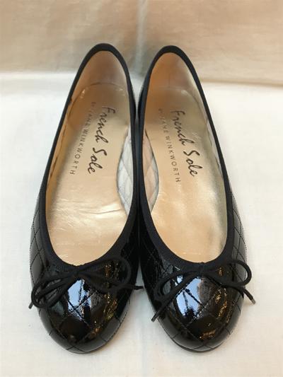 French Sole BY JANE WINKWORTH(フレンチソール バイ ジェーンウィンクワース) Patent Leather Flat Shoes エナメルレザーフラットシューズ【通販】