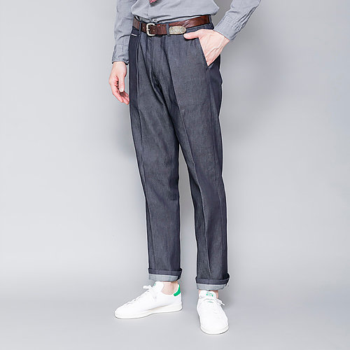 The Chino Revived Ice cotton red salvaged denim tapered fit