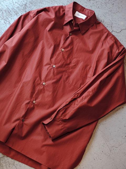 MARKAWARE (マーカウエア) A20C-09SH01C COMFORT FIT SHIRT コンフォートフィット シャツ BROWN