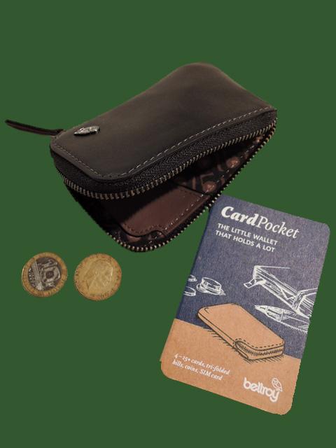 Bellroy ベルロイ Card Pocket スリムレザー カードケース兼コインケース Black