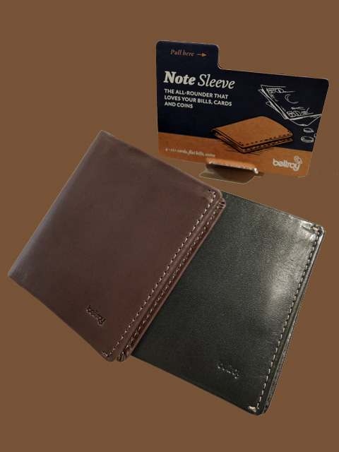 Bellroy ベルロイ Note Sleeve スリムレザー 二つ折り財布 Charcoal、Teal
