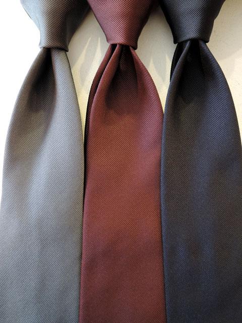 ドレイクス (Drake's) 【新作】 「Reppe Woven Twill Tie」 レップウーブン ツイルタイ 【GREY,BORDEAUX,NAVY】