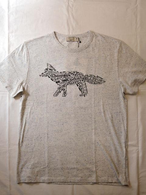 メゾンキツネ (MAISON KITSUNE) CALLIGRAMME フォックス コラージュTシャツ