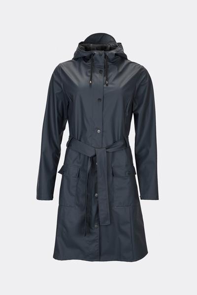 RAINS レインズCurve Jacket BLUE レディース