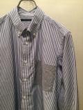 SHIRT/Stealth Wealth SHIRT ステルスウェルスシャツ Style:Sonny・Lサイズ  ボタンダウンシャツ ロンドンストライプ