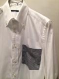 SHIRT/Stealth Wealth SHIRT ステルスウェルスシャツ Style:Evans・Sサイズ  RoyalCaribbeanCotton ホワイト ボタンダウンシャツ