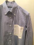 SHIRT/Stealth Wealth SHIRT ステルスウェルスシャツ Style:Evans・Mサイズ  RoyalCaribbeanCotton ロンドンストライプ ボタンダウンシャツ