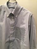 SHIRT/Stealth Wealth SHIRT ステルスウェルスシャツ Style:Evans・LLサイズ  RoyalCalibbeanCottonストライプ ボタンダウンシャツ