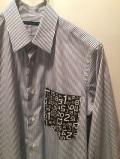 SHIRT/Stealth Wealth SHIRT ステルスウェルス シャツ Style:Brownie・M  コットン ストライプシャツ