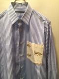 SHIRT/Stealth Wealth SHIRT ステルスウェルスシャツ Style:Brownie・LLサイズ  ThomasMason ストライプシャツ