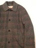 MAISON KITSUNE メゾンキツネ KMO-08530 CHECK BILL CLASSIC COAT  チェック ステンカラーコート