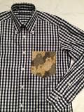 SHIRT/Stealth Wealth SHIRT ステルスウェルスシャツ Style:Evans・Mサイズ  RoyalCaribbeanCotton ギンガムチェック ロールダウンシャツ