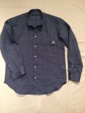 SHIRT/Stealth Wealth SHIRT ステルスウェルス シャツ Style:Monk 「Round Midnight」 リネン バンドカラーシャツ