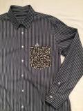 SHIRT/Stealth Wealth SHIRT ステルスウェルスシャツ Style:Brownie・LLサイズ  『SWINGIN'』 トリプルストライプ ワードローブシャツ