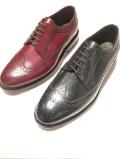 JALAN SRIWIJAYA ( ジャランスリワヤ) 98652 Wingtip Shoes *BLACK & BORDO CALF ウィングチップ