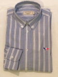 MAISON KITSUNE メゾンキツネ KMH18530 STRIPES CLASSIC SHIRT BD ブルーストライプBDシャツ