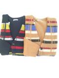 COOHEM (コーヘン) 20-194-004 RETRO CHECK KNIT CARDIGAN / チェックカーディガン *CAMEL,NAVY