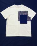 COOHEM (コーヘン) 20-202-019 BLAZER TWEED T-SHIRT / ツィード切替Tシャツ