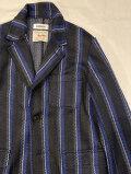 COOHEM (コーヘン) 20-204-003 BLAZER TECH STRIPE TWEED JACKET/クラブストライプ ブレザージャケット