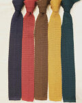 ドレイクス (Drake's) SC01KN PLAIN Silk Knit Tie / シルクニットタイ・ドイツ製