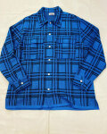 COOHEM (コーヘン) 13-212-021 ALTERNATE CHECK KNIT SHIRT / チェック ニットシャツ *BLUE